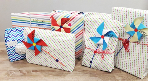 wrapping kid cadeaux