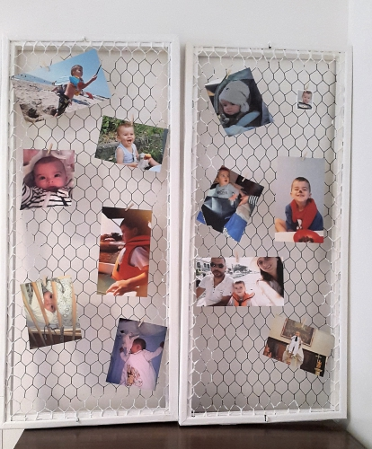 cadre photo DIY, porte photo, grillage de poule, deco DIY